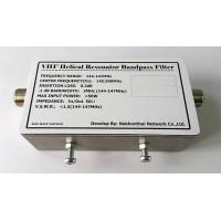 VHF Helical Resonator Bandpass Filter
