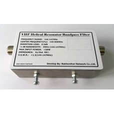 VHF Helical Resonator Bandpass Filter