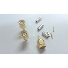 SMA male plug crimp RG174/RG316/LMR100