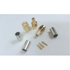 SMA male plug crimp RG58/3DFB